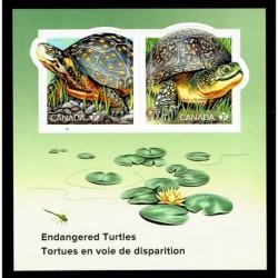 2019 Canada Tartarughe in via di estinzione foglietto