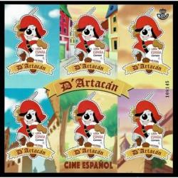 2019 Spagna foglietto D'Artacan - Cartoni animati