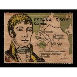 2019 Spagna Esploratori - Francisco Antonio Mourelle - Francobollo in legno