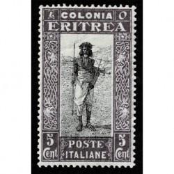 1930 Eritrea Soggetti africani 5cent Sas.156 MH/*