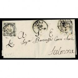Coppia 1 Grano da Aquila a Sulmona con testo - Risorgimentale