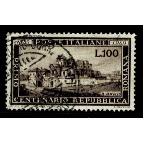 1949 Centenario della Repubblica Romana Sas.600 usata