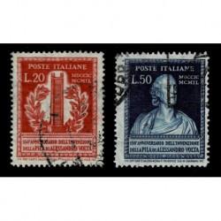 1949 Repubblica pila elettrica di Alessandro Volta Sas.611/612 usati