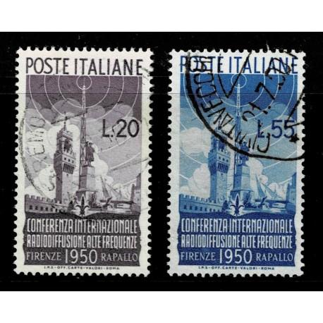 1950 Repubblica Conferenza Internazionale Radiodiffusione serie usata Sas.623/624