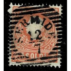 1859 ASI Lombardo Veneto 5 Soldi II° tipo Sas.30 - Annullo LO Sermide