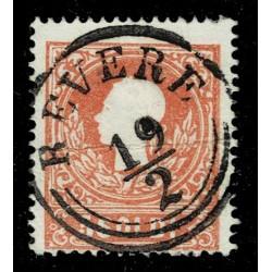 1859 ASI Lombardo Veneto 5 Soldi II° tipo Sas.30 - Annullo Revere