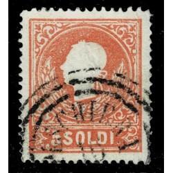 1859 ASI Lombardo Veneto 5 Soldi II° tipo Sas.30 - Annullo C3 Peschiera