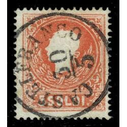 1859 ASI Lombardo Veneto 5 Soldi II° tipo Sas.30 - Annullo Castelfranco