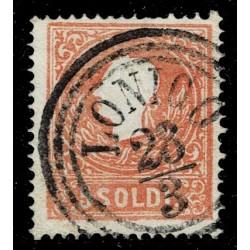1858 ASI Lombardo Veneto 5 Soldi I° tipo Sas.25 - Annullo C3 Lonigo