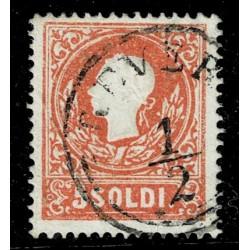 1858 ASI Lombardo Veneto 5 Soldi I° tipo Sas.25 - Annullo Revere