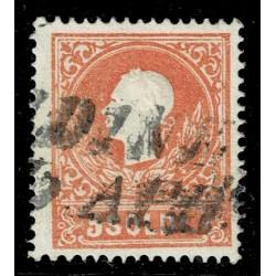 1858 ASI Lombardo Veneto 5 Soldi I° tipo Sas.25 - Annullo Stampatello Udine