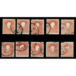 ASI 5 soldi Lombardo Veneto - lotto di 10 esemplari
