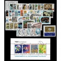 1999 Repubblica annata completa usata 49val + 1 foglietti