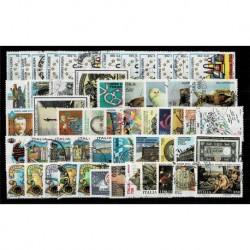 1993 Repubblica annata completa usata 54 francobolli