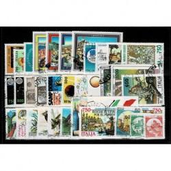 1991 Repubblica annata completa usata 35 francobolli