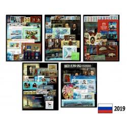 2019 Russia Annata completa con foglietti e sovrastampati (no Mendeleev)