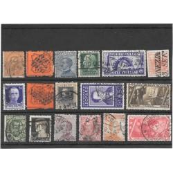 Interessante insieme di francobolli usati Regno e Antichi Stati