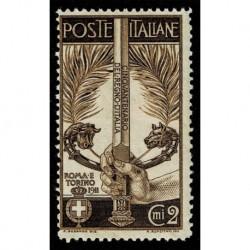 1911 Regno Cinquantenario Unità Italia Sas.92 MNH/**