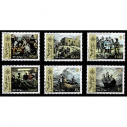 2020 Isle of Man Anniversario del Mayflower serie MNH/**