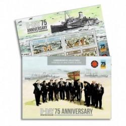 2019 Isloe of Man D-Day 75° anniversario WWII - foglietto prestige