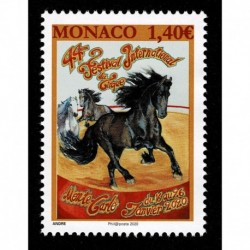 2020 Monaco Festival Internazionale del Circo - unusual stamp