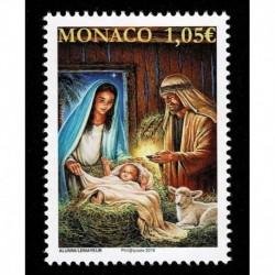 2019 Monaco francobollo per il Natale MNH/**