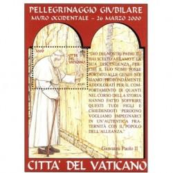 2001 Vaticano - Pellegrinaggi giubilari del Papa - Foglietto