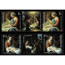 2010 Romania congiunta Vaticano Natale MNH/**