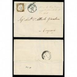 1862 - 10c Sas.14D su lettera da Palermo a Trapani con testo