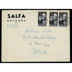 1950 Lettera Espressa da Sassari a Bologna con Pionieri dell'industria