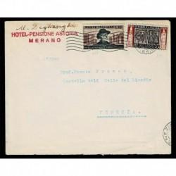 1953 Lettera da Merano a Venezia Sas.677+Sas.689