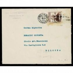 1950 Muratori isolato su lettera da Modena a Bologna