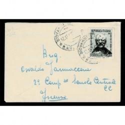 1952 Mancini isolato su lettera da San Giovanni Valdarno a Firenze