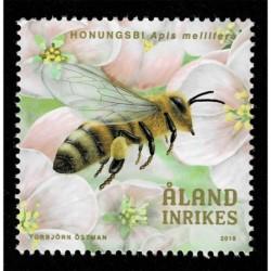 2019 Aland francobollo tema Apicoltura - Api