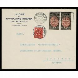 1950 Accademia Bele Arti Lettera Venezia a Locarno (Svizzera) tassata