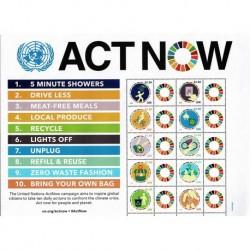 2020 ONU NY Act Now - Cambiamenti Climatici - Emissione Congiunta Foglietti