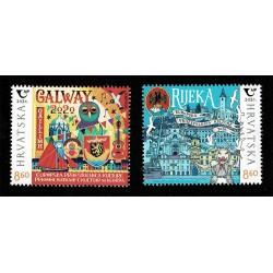 2020 Croazia Fiume e Galway capitali europee cultura MNH/**