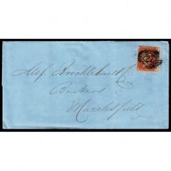 1857 Regno Unito One Penny Red UNI.10 lettera per Macclesfield pos. P-C