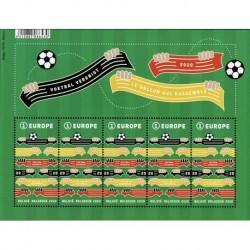 2020 Belgio Foglietto il Calcio che unisce