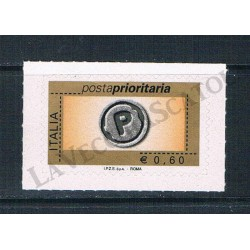 2006 Posta Prioritaria 0,60€ con millesimo I.P.Z.S. S.p.A.