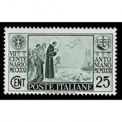 1931 Regno morte di S. Antonio 25 cent Sas.293 MNH/**