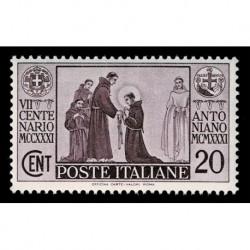 1931 Regno morte di S. Antonio 20 cent Sas.292 MNH/**