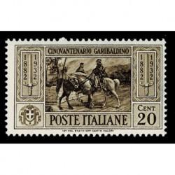 1932 Regno morte Giuseppe Garibaldi 20cent Sas.316 MNH/**