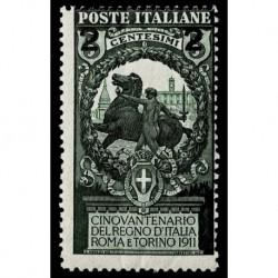 1913 Regno Unità Italia sovrastampato Sas.99 MNH/**