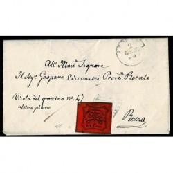 1968 Pontificio 10cent Sas.17 lettera da Albano a Roma