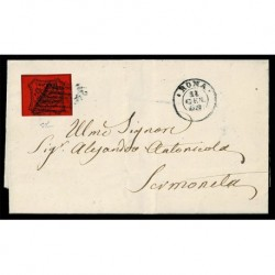 1867 Pontificio 10cent Sas.17 lettera da Roma a Sermoneta