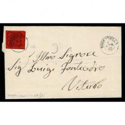 1867 Pontificio 10cent Sas.17 lettera da Toscanella a Viterbo
