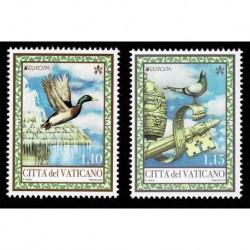 2019 Vaticano Emissione Europa tematica Uccelli serie