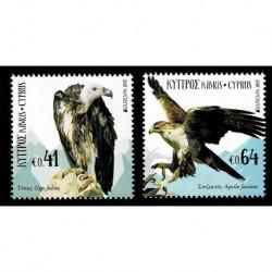 2019 Cipro Emissione Europa tematica Uccelli serie