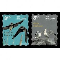 2019 Croazia Emissione Europa tematica Uccelli serie